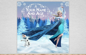 Frozen Birthday Backdrop
