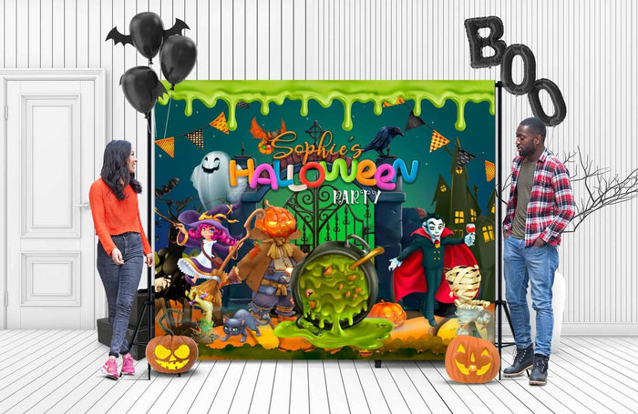Personalized Halloween Backdrop