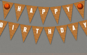 Basketball Birthday Bunting
