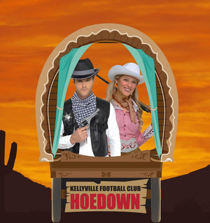 Wildwest Wagon Photo Booth Prop