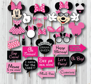 Mickey Mouse Photo Booth Props