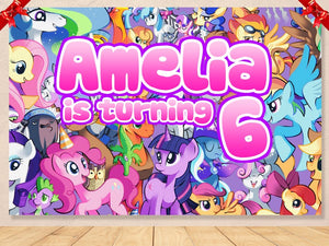 My Little Pony Birthday Backdrop