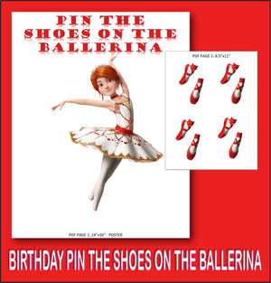Pin the Shoes on the Ballerina