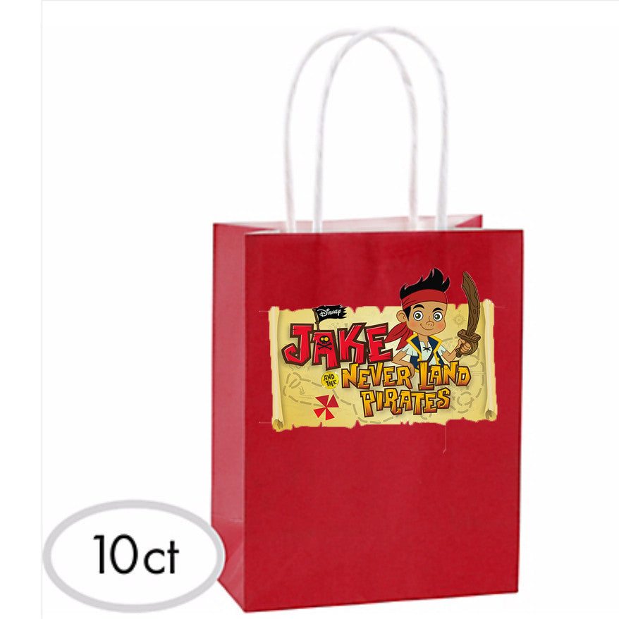 Jake & The Neverland Favor Bags 10ct