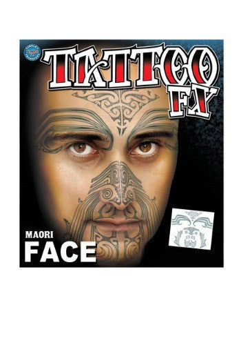 MAORI TRIBAL FACE TEMPORARY TATTOO
