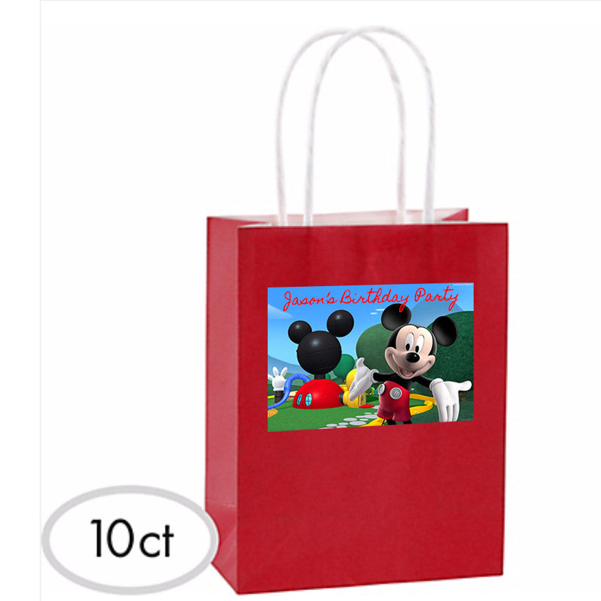 Customized Mickey Favor Bags 10ct
