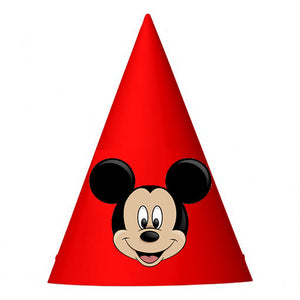 Mickey Mouse Birthday Party Hat (10 pcs)