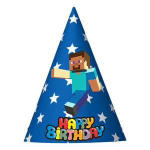 MInecraft Birthday Party Hat (10 pcs)