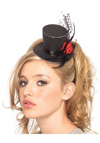 MINI BLACK TOP HAT