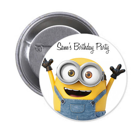 Minions Birthday Badge