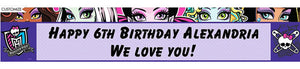 Custom Monster High Birthday Banner