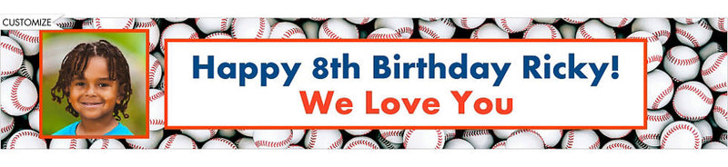 Custom Baseball Birthday Banner