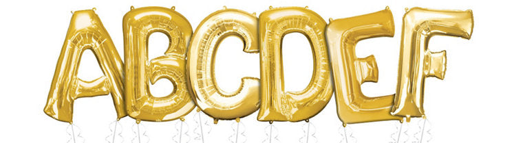 34inch Gold Letter Balloons