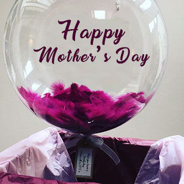 Mother's Day Message Balloons with feather