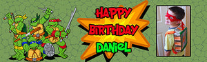 Ninja Turtle Birthday Banner