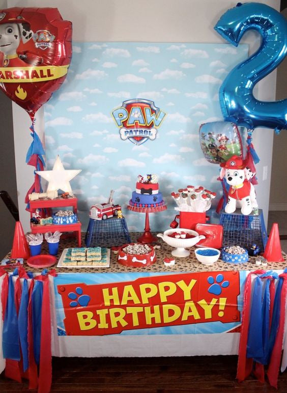 paw patrol backdrop matteo party. Black Bedroom Furniture Sets. Home Design Ideas