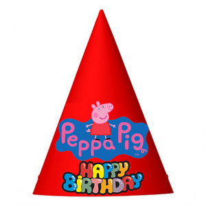 Peppa Pig Birthday Party Hat (10 pcs)