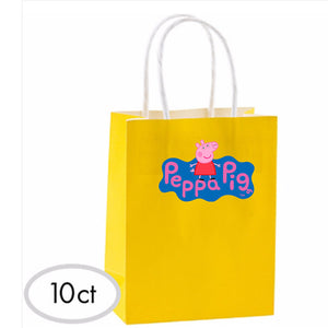 Peppa Pigs Favor Bags 10ct