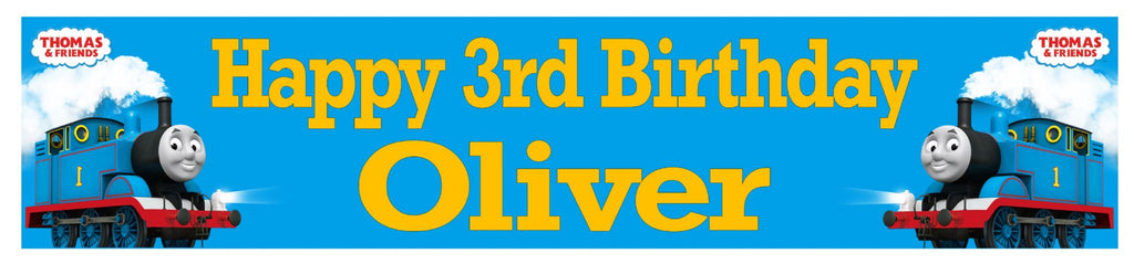 Personalized Thomas Birthday Banner