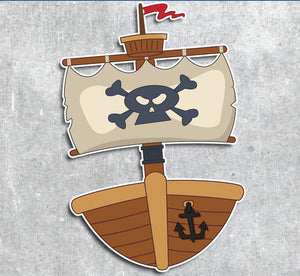Customized Pirate Ship Photo Booth Prop