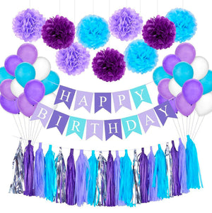 Happy Birthday Decoration Kit (Purple)