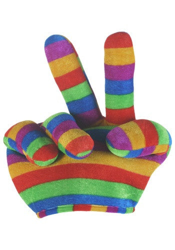 RAINBOW PEACE SIGN HAT