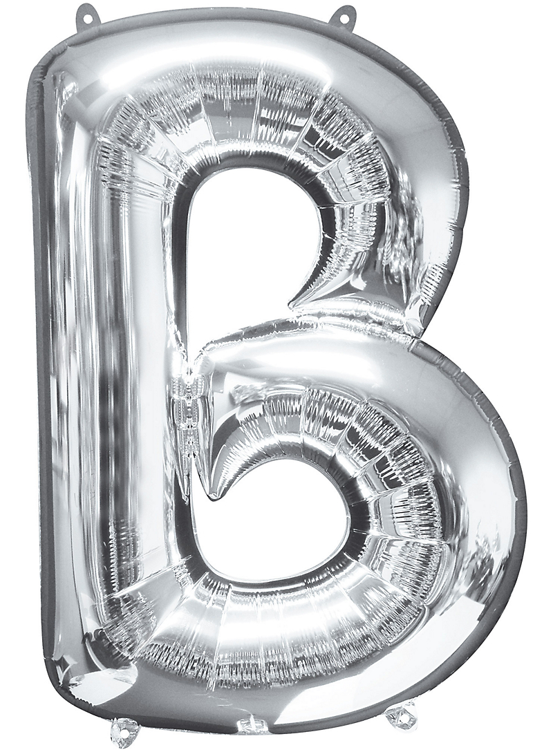 16inch Silver Letter Balloons