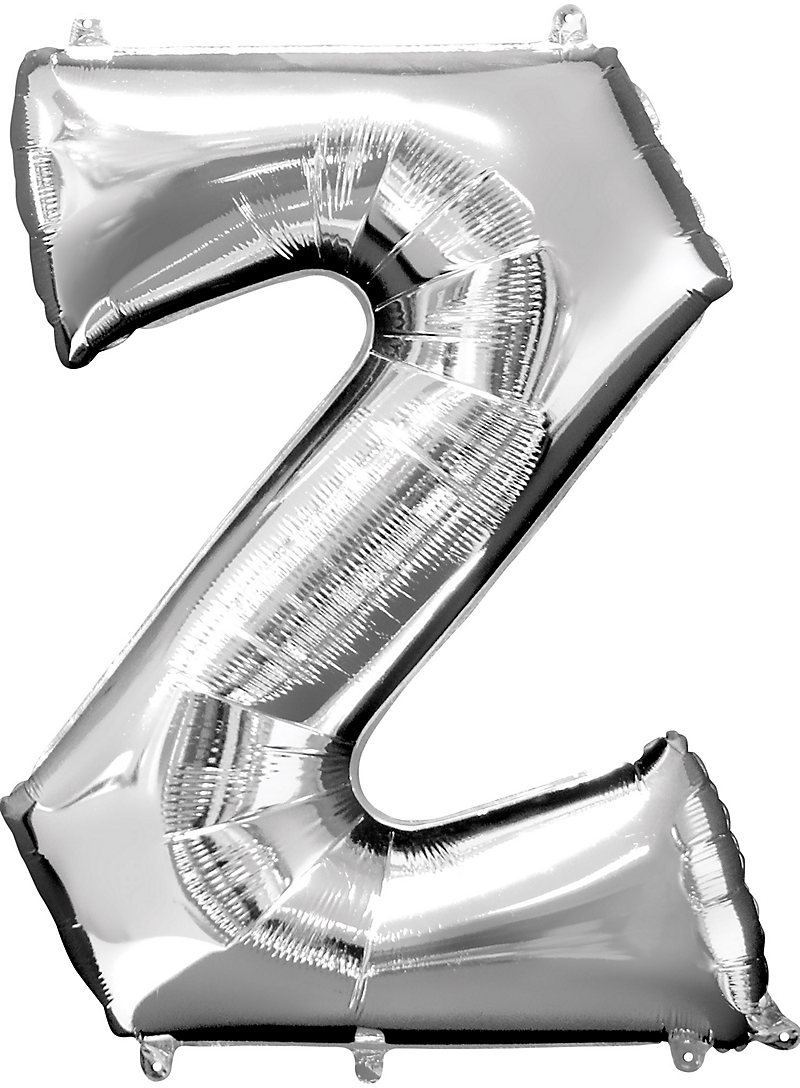 34inch Silver Letter Balloons