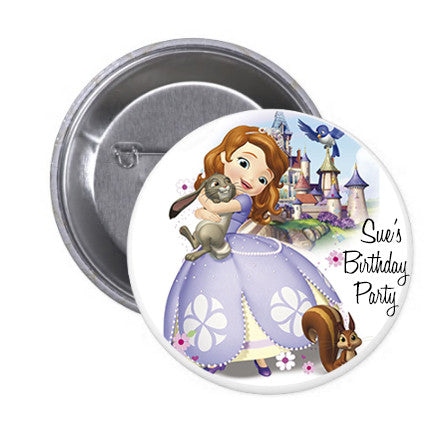 Customized Sofia The First Birthday Badge