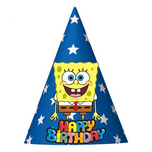 Spongebob Birthday Party Hat (10 pcs)