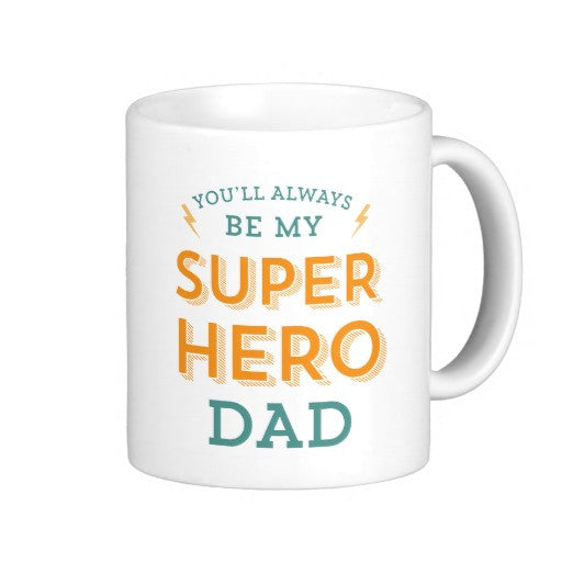 Customized Super Hero Dad Mug