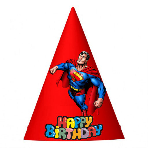 Superman Birthday Party Hat (10 pcs)