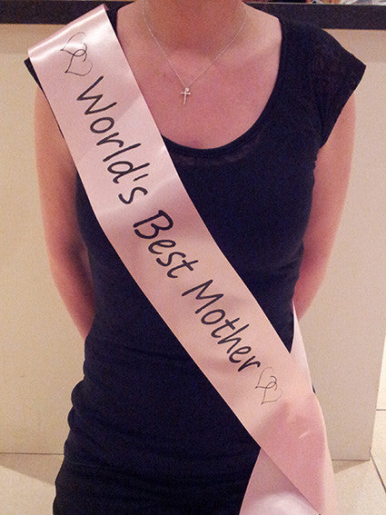 World's Best Mom Sash