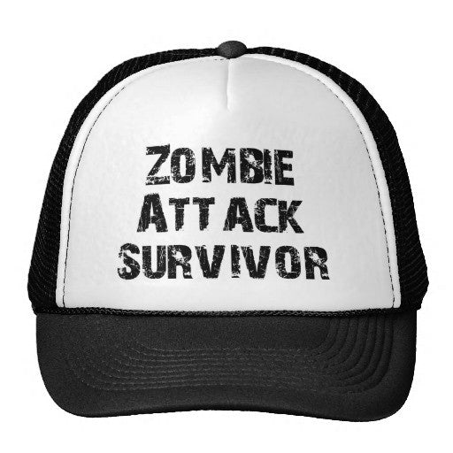 Zombie Attack Survivor Trucker Hat