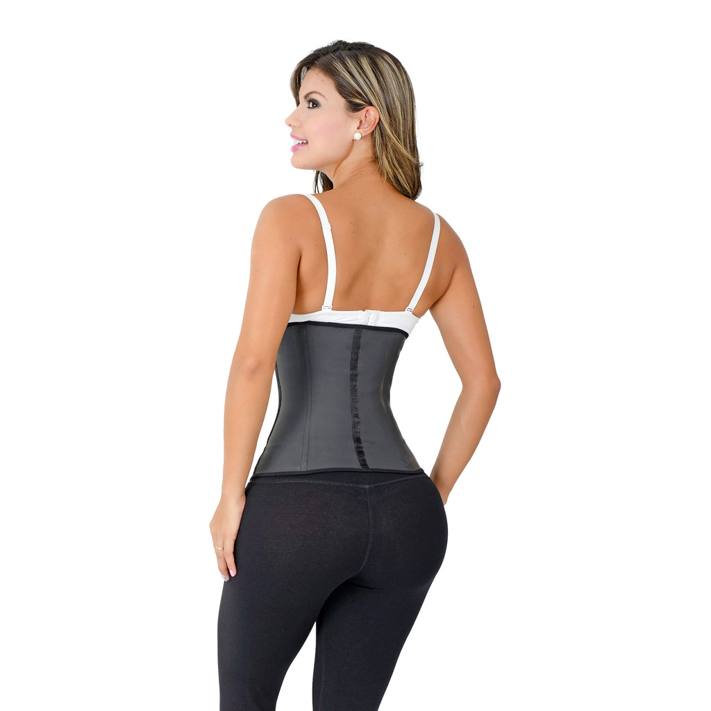CT2022 Black Sport Cincher Corset Shapewear with 2 Hooks – Workout Girdle - Curvy Trainer - 2