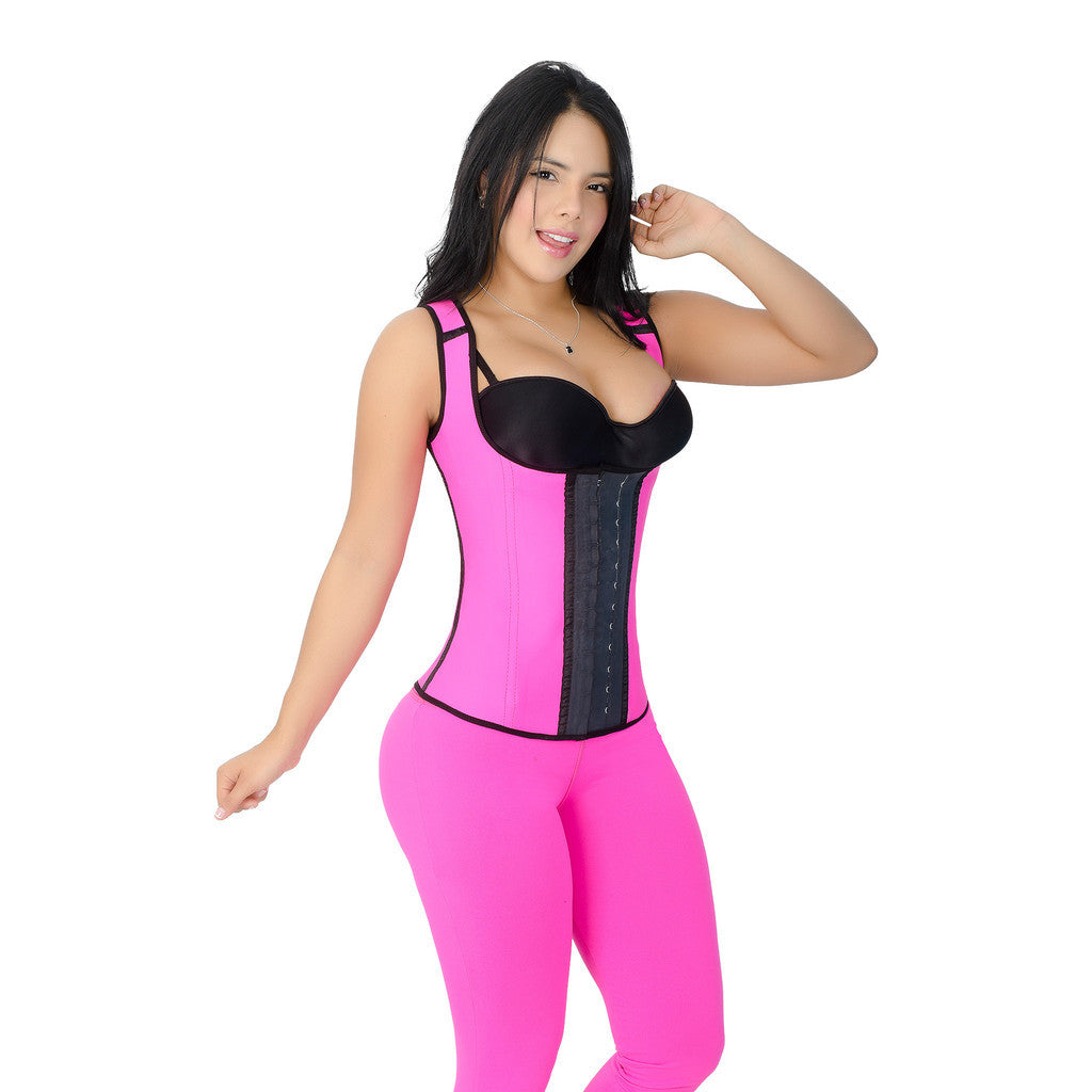 CT2022 Black Sport Cincher Corset Shapewear with 2 Hooks – Workout Girdle - Curvy Trainer - 5