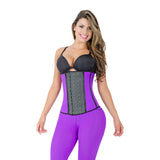 CT2029 Purple Sport Cincher Corset Shapewear with 2 Hooks - Curvy Trainer - 1