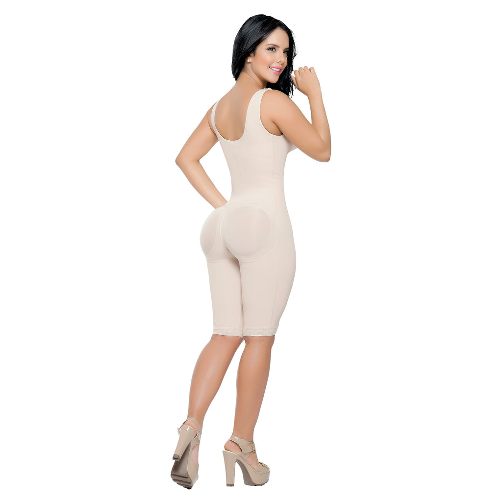 CT3016  Open Bust Full Thigh Shapewear Bodysuit - Curvy Trainer - 4
