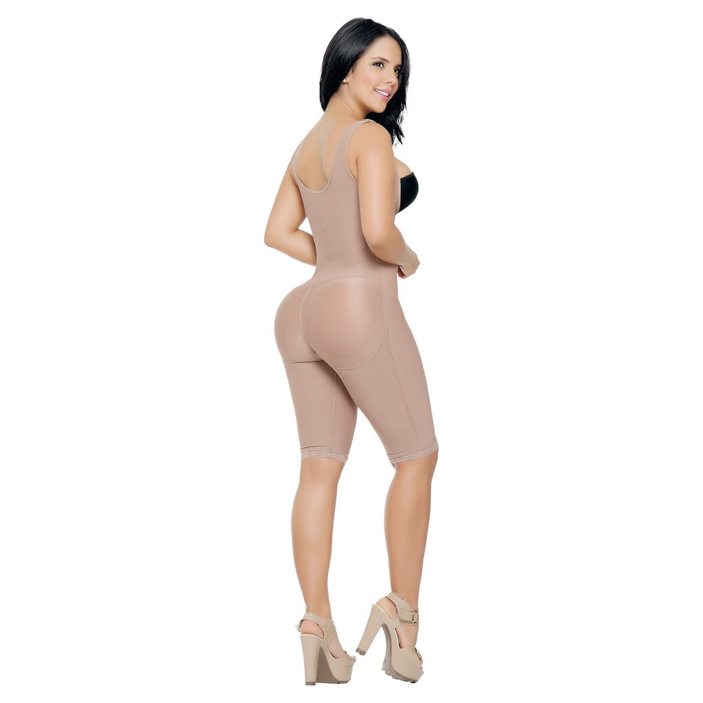 CT3016  Open Bust Full Thigh Shapewear Bodysuit - Curvy Trainer - 1