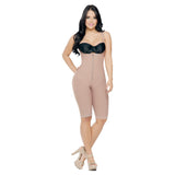 CT3016  Open Bust Full Thigh Shapewear Bodysuit - Curvy Trainer - 2