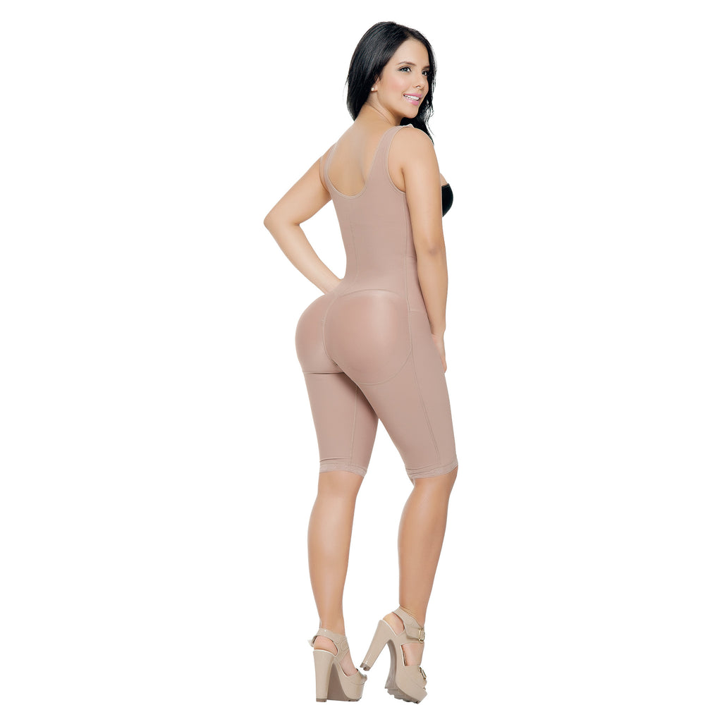 CT3016  Open Bust Full Thigh Shapewear Bodysuit - Curvy Trainer - 3