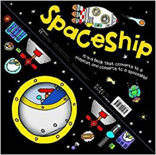 Convertible SpaceShip 3 in 1 Book Playmat and Toy for Children