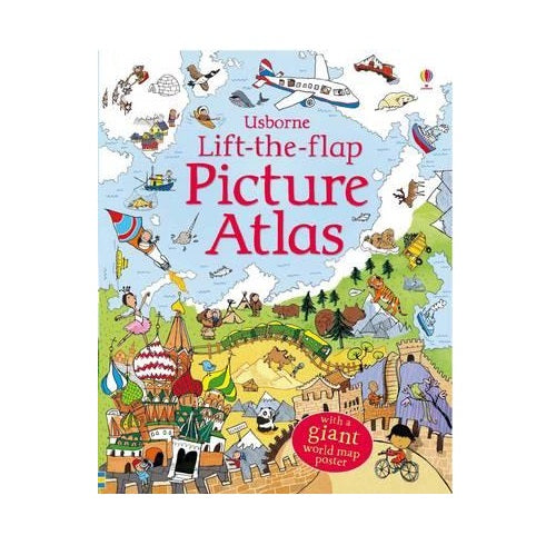 Lift-The-Flap Picture Atlas + World Map Poster