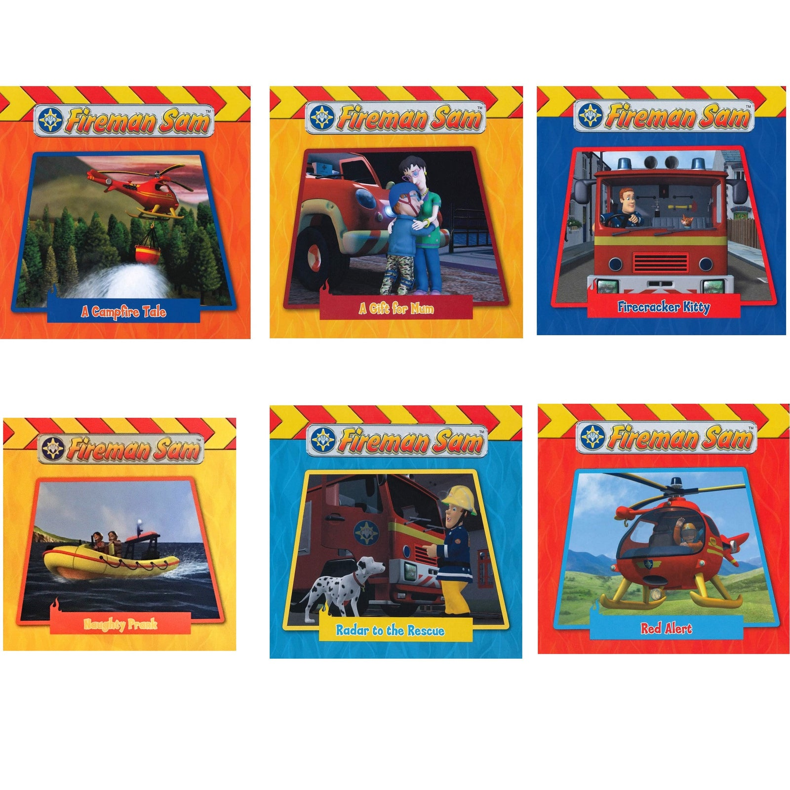 Fireman Sam 6 Board Books Collection Set