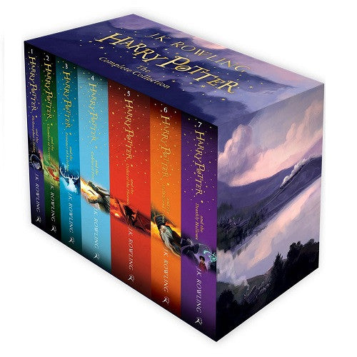 Harry Potter Full 7 Books Box Set Collection by J. K. Rowling - Purple Box