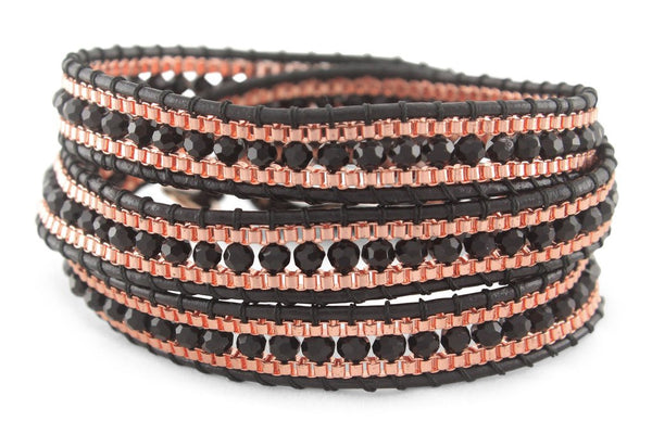 Francesca Leather 3 Wrap Bracelet