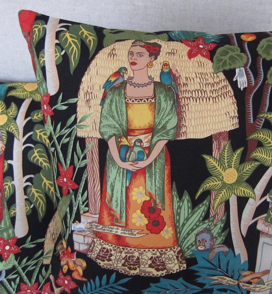 Frida Cushion Cover (Black)