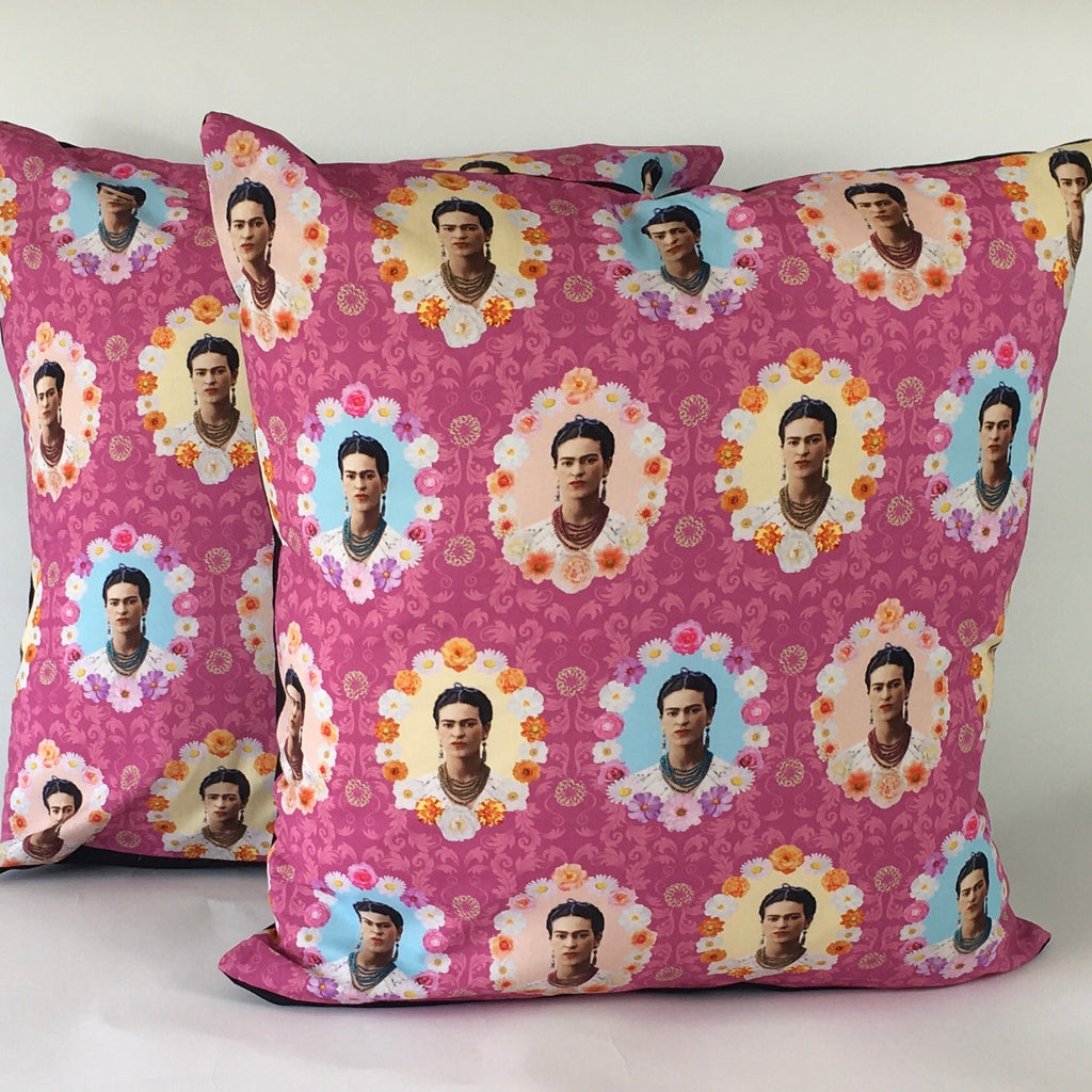 Floral Frida Cushion Cover (Pink)