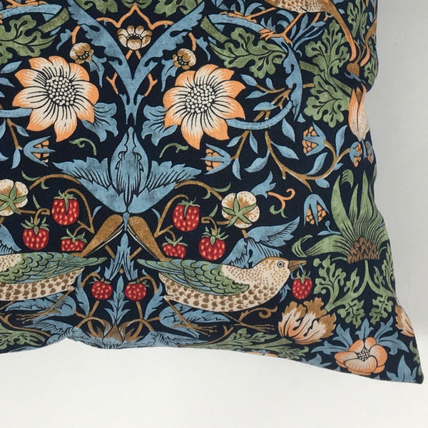 William Morris The Strawberry Thief Cushion Cover