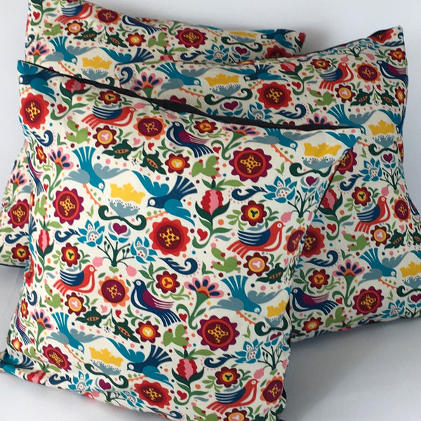 Folk cushion cover with doves